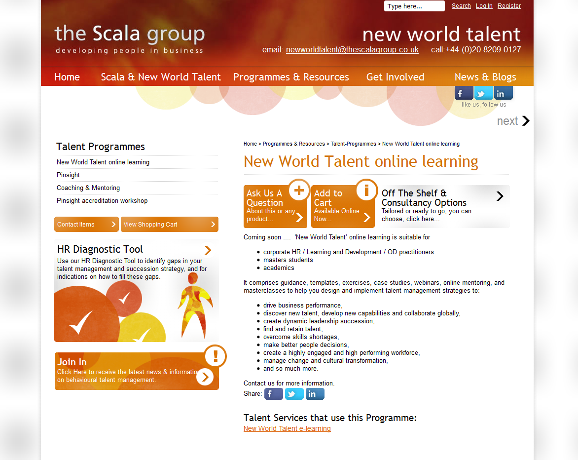 Talent Management Website Project