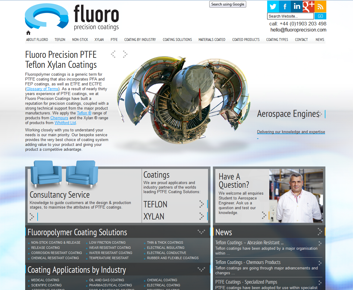 Specialist Industry Website Project